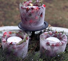 lanterns for weddings | DIY Ice Lanterns