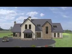 Exterior movie of house plan type Visit www. Two Story House Plans, New House Plans, House Designs Ireland, Acadian House Plans, Dream Mansion, Ireland Homes, Traditional House Plans, Home Design Plans, House Front