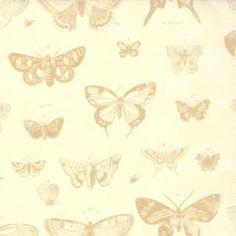 Cream Papillon by 3 Sisters from Moda 1 yard. $9.50, via Etsy.