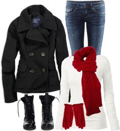 """No. 122 - Baby, it's cold outside"" by hbhamburg on Polyvore"