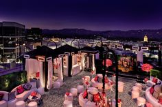 Roof top party with cabana tents