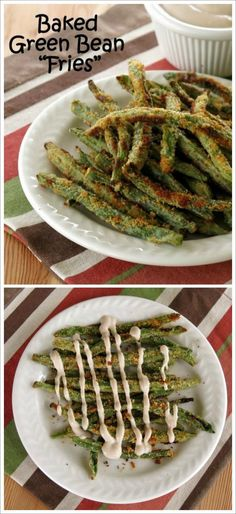 Crispy Green Bean Fries with Balsamic Yogurt Dip - satisfy your need to crunch with this low-calorie and fun appetizer or snack.