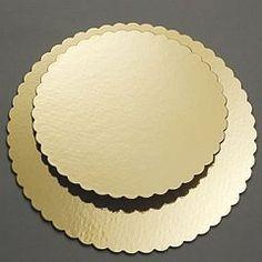 Podložka zlatá kartonová- ozdobná 32 cm