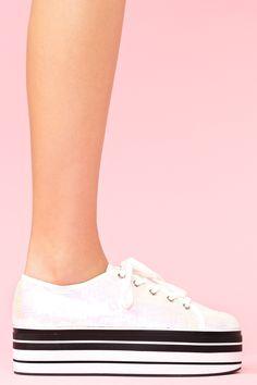 Sequin Platform Sneaker