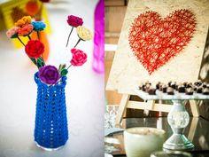 vasinhos para festas flores de crochê - Pesquisa Google