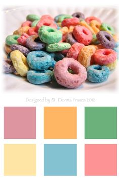 """Going """"Loopy"""" over color! What's not to like about these classic spring colors? Just like the cereal, they're classic spring hues. Enjoy them in your home."""