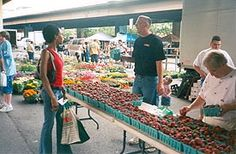 Calendar of Maryland produce availability [photo, Baltimore Farmers' Market, Holliday St. and Saratoga St., Baltimore, Maryland]