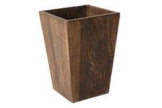 vaso de madeira simples