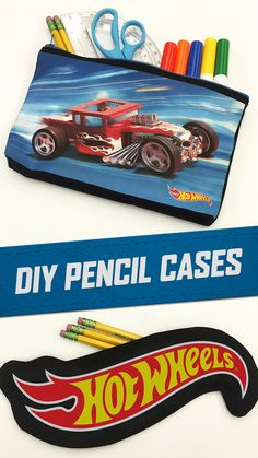 He'll be the coolest kid in school with these DIY Hot Wheels pencil cases. Download the printable PDFs here.