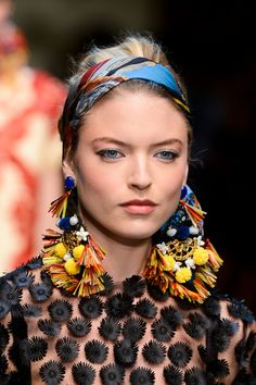 #Dolce & Gabbana Spring 2013  #Statement Tribal Earrings