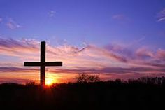 Image result for cross in the sunset