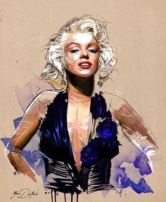 Marilyn Monroe portrait by Yann Dalon / This image first pinned to Marilyn Monroe art board here: http://pinterest.com/fairbanksgrafix/marilyn-monroe-art/ #Art #MarilynMonroe