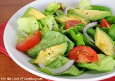 Avocado and Butter Leaf Salad with a Tangy Mustard Garlic Vinaigrette AND Giveaway Winner