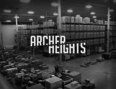 'Archer Heights' from The Chicago Neighborhoods, featuring logos of neighborhoods in the area Cool Typography, Typography Letters, Typography Design, Lettering, Type Design, Logo Design, Street Banners, The Neighbourhood, City Branding