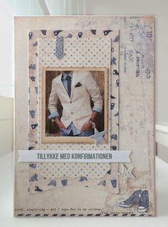 Card for men masculine guy man boy clothes jacket suit & tie, communion confirmation, MFT Blueprints 13 Die-namics Maja Design Denim and Friends paper pad - kort konfirmation drenge - JKE Card Tags, I Card, Diy And Crafts, Paper Crafts, Masculine Birthday Cards, Mft Stamps, Marianne Design, Cards For Friends, Graphic 45