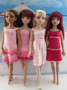 Ettie, Jem, Serena and Genevieve model the first four dresses in the Pretty in Pink Sundress Collection.