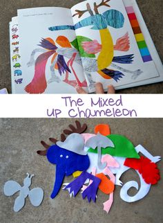 Mixed Up Chameleon - plus story stick idea and felt activity