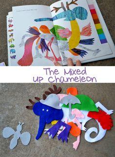 Mixed Up Chameleon - plus story stick idea and felt activity
