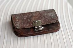 Vintage French leather coin purse