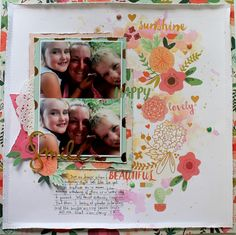 """ Smile"" layout by Bernii Miller for Scrapping Clearly using My Mind Eye on trend 2 collection."