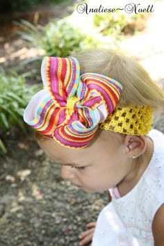Fiesta Boutique Bow Medium by analiesenoell on Etsy, $4.00