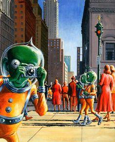 Galaxy Science Fiction Magazine, Ed Emshwiller, 1952