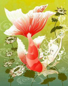 ✯ Mermaid :: Artist Unknown ✯ Siren Mermaid, Mermaid Fairy, Fantasy Mermaids, Mermaids And Mermen, Mermaid Illustration, Illustration Art, Ange Demon, Underwater Creatures, Merfolk