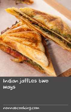 Indian jaffles two ways Pot Roast Recipes, Meal Recipes, Spicy Recipes, Dove Recipes, Basil Recipes, Austrian Food, Austrian Recipes, Sandwich Maker Recipes, Soup And Sandwich