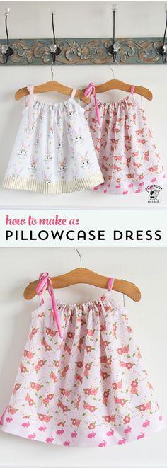 Easy pillowcase dress tutorial at The Polkadot Chair