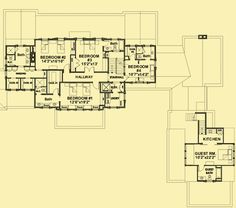 Upper Level Floor Plans For Traditional Yet Contemporary