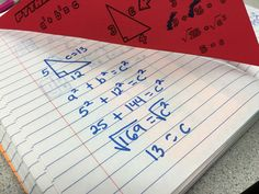 Read how I use foldable notes and a hands-on discovery lab lesson to introduce students to the Pythagorean Theorem. Teaching Strategies, Teaching Tips, Teaching Math, Math Teacher, Math Classroom, Geometry Activities, Right Triangle, Pythagorean Theorem, Math Concepts