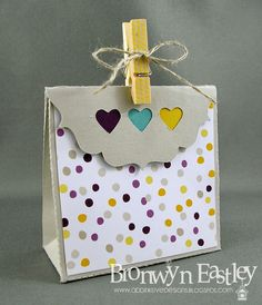"Tuesday, June 17, 2014 addINKtive designs: Cool Like That 4.5"" Gift Bag Moonlight dsp, Hearts Border punch"