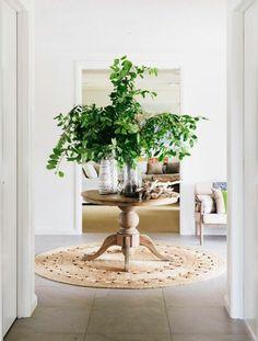 Love greenery with wood