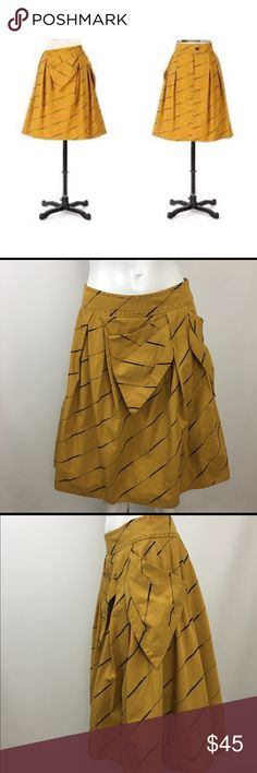 Floreat ANTHROPOLOGIE Subway Stairs Skirt Size 2 Floreat ANTHROPOLOGIE Subway Stairs Skirt Size 2 Mustard Yellow Full Crinoline Excellent preowned condition. Anthropologie Skirts A-Line or Full