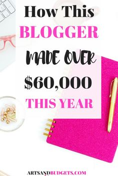 Blogging is the best side hustle! If you have been thinking about starting a blog, Kristin from Believe in A Budget made over 60,000 this year with her new blog!