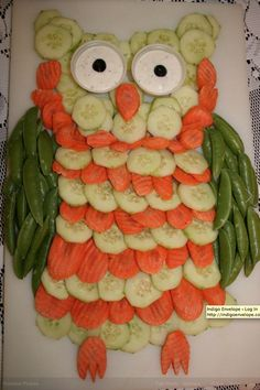 New fruit and vegetables display veggie platters 18 Ideas Owl Party Food, Bird Party, Party Snacks, Owl Parties, Owl Birthday Parties, 2nd Birthday, Birthday Ideas, Veggie Platters, Veggie Tray