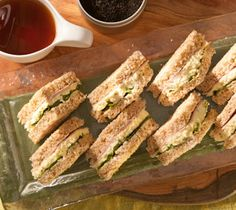 Tea Party Ham Sandwiches   ... and creamy egg salad sandwiches to serve with tea or bring to a picnic