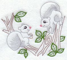 Vintage Embroidery Designs Vintage-Stitch Squirrel Duo Product ID: Size: x x mm) Color Changes: 7 Stitches: 8087 Colors Used: 7 Learn Embroidery, Crewel Embroidery, Vintage Embroidery, Embroidery Tattoo, Embroidery Thread, Simple Embroidery Designs, Machine Embroidery Designs, Embroidery Patterns, Broderie Simple