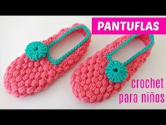 Crochet Beautiful Slippers Puff Stitch - ilove-crochet