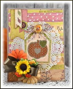 Let Us Give Thanks designed by Tammy Hobbs @ Creating Somewhere Under The Sun for The Kraft Outlet /The Kraft Journal 139 - Color Challenge