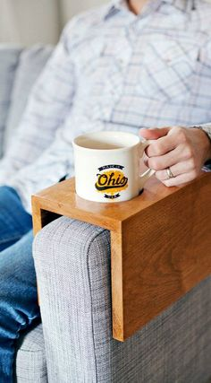 DIY Wooden Sofa Sleeve with Cup Holder