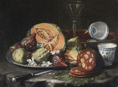 Cristoforo Munari  (Reggio d'Emilie 1667-1720 Pise)  Nature morte  Toile, 44 x 56 cm  Coll. Fritz Lugt, acquis en 1957; inv. 6966  (pas touch frérot)