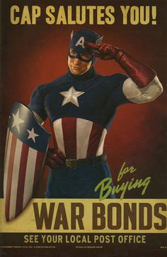 Captain America Salutes Poster