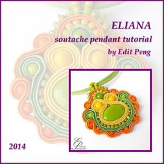 TUTORIAL ONLY Hand Embroidered Soutache Tutorial by EditBeadIt, $13.00