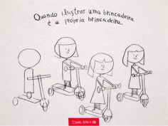 Que tal aproveitar o fim de semana para ensinar as crianças a desenhar algo que fez parte da sua infância? #IdeiasFeitasaMao