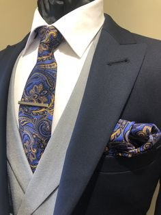 In love with this tie colour - a perfect compliment to our Highgrove navy lounge suit and grey double breasted waistcoat. Grey Suit Men, Mens Suits, Navy Suit Grey Waistcoat, Wedding Suit Hire, Mens Grey Wedding Suits, Mens Suit Stores, Double Breasted Waistcoat, Groomsmen Suits, Well Dressed Men