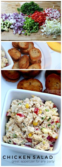 Make an appetizer that will be easy and loved by everyone {or just you!} This easy Summer Chicken Salad will hit the spot of deliciousness and nutrition!
