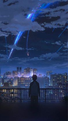 your name & your name . your name wallpaper . your name anime . your name kimi no na wa . your name aesthetic . your name quotes . your name wallpaper aesthetic . your name mitsuha Anime Sky, Anime Love, Manga Anime, Animes Wallpapers, Live Wallpapers, Iphone Wallpapers, Iphone Backgrounds, Iphone Wallpaper Japan, Cool Anime Backgrounds