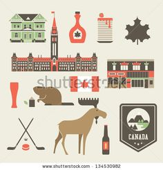 Vector set of various stylized canada icons by Vector pro, via Shutterstock