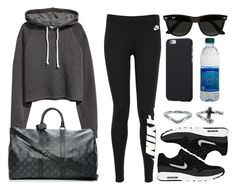 """""""#14127"""" by vany-alvarado ❤ liked on Polyvore featuring NIKE, H&M, Louis Vuitton, Ray-Ban and NLY Accessories"""